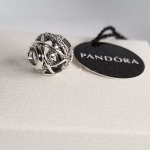 Pandora GALAXY, CLEAR CZ STERLING SILVER